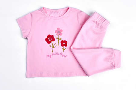 0a9f7178a36c1 Set of beautiful clothes for baby girl pink cartoon shirt and leggings for  infant girls white
