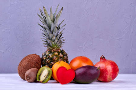 Beautiful composition from tropical fruits. 版權商用圖片