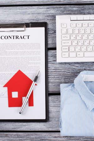 Cntract, shirt and keyboard. Rental of property. Realtors weekdays.