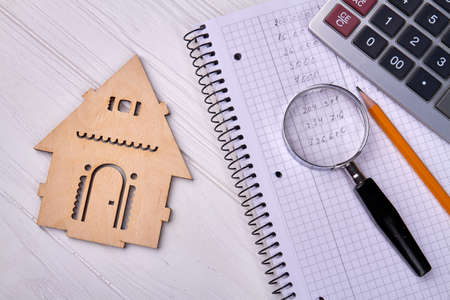 Property valuation and Home appraisal concept. Choice of location for the construction.