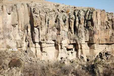 Beautiful Ihlara valley landscape in Cappadocia, Turkey. Gorge of Ihlara valley, Aksaray province. Travel to Turkey.