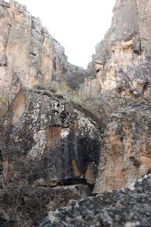 Ihlara valley background, Aksaray province. Travel to Cappadocia, Turkey.