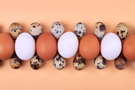 Compopsition of chicken eggs and quail eggs.