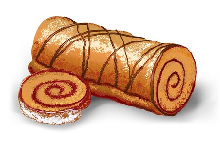 cake roll Vector