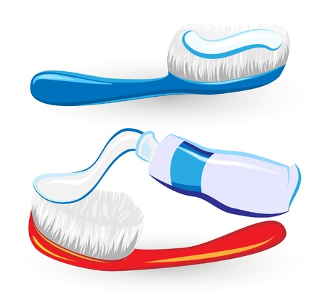 collection of  hygiene accessories Vector