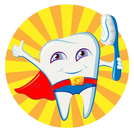 healthy tooth Ilustrace