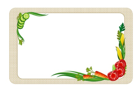 veggies:  decorative diet frame with vegetables