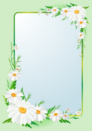 place card: floral border background