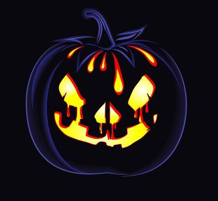 decorative halloween celebrate background with magic pumpkin Stock Vector - 15543913