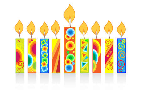 chanuka background with candles Vector