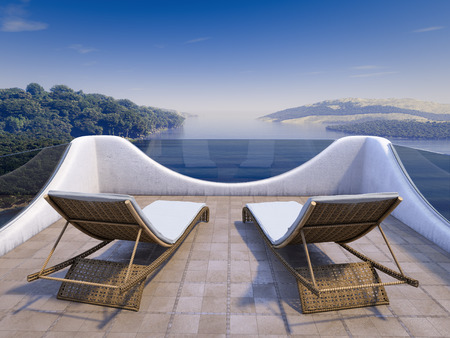 Balcony with Sea Views and two chairs photo