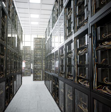 administrador de empresas: servidores y sala de hardware concepto de tecnología informática