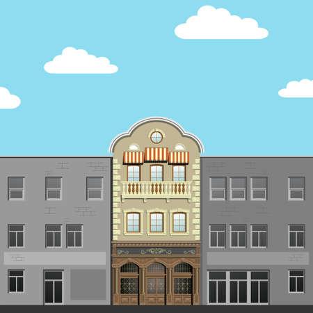 real renaissance: Modern and classical facades