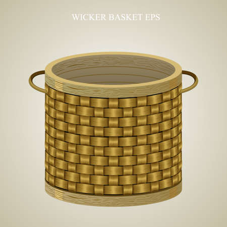 round: Round wicker basket Illustration