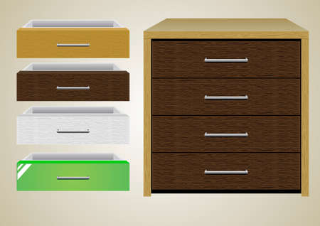 drawers: Chest of drawers with different textures cover