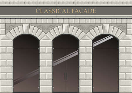 stone arch: Classical arch of hewn stone in vector graphics. .