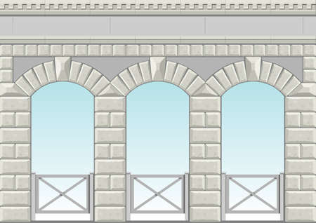 stone arch: Classical arch of hewn stone in vector graphics.