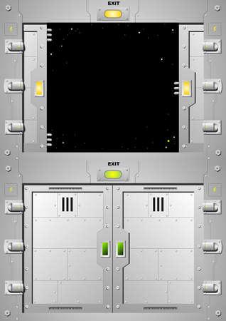 door lock: Sliding steel door lock in vector graphics. Illustration