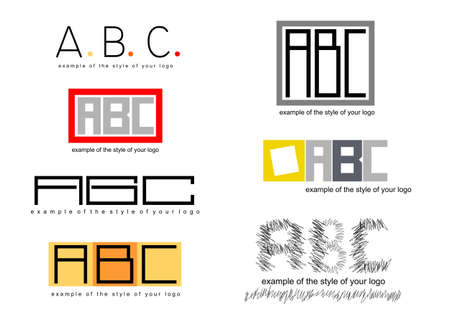 example: Example of style logo in vector graphics