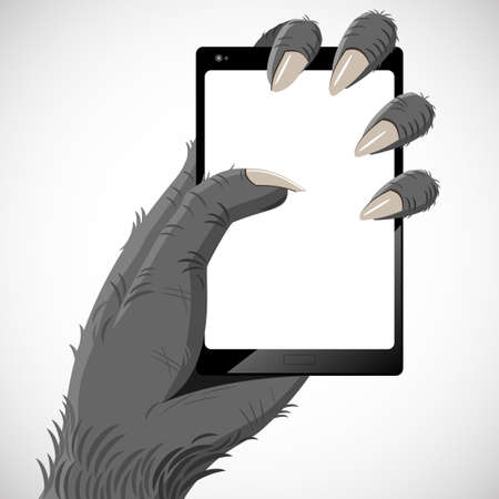 gorila: Hand gorilla that keeps the smartphone in its claws.