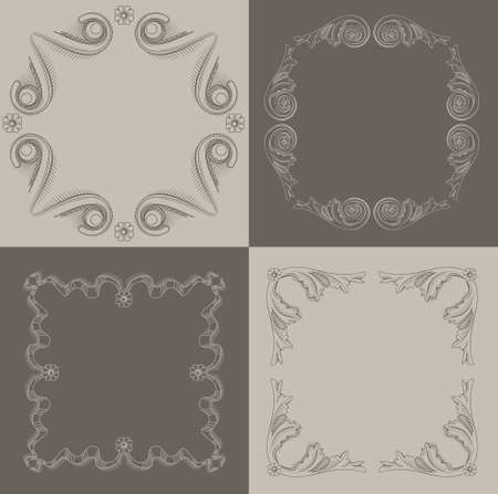 vignettes: Classical frames, vignettes in the art of engraving.