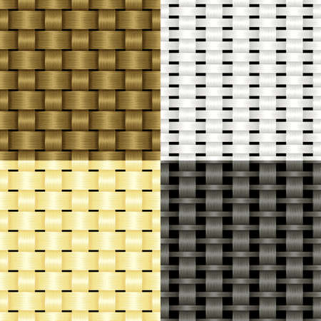 rattan: Set of seamless textures of different weaving vines