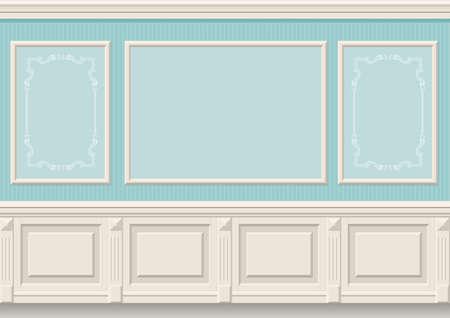 des panneaux muraux classiques à l'intérieur de la chambre, le graphisme Vecteurs