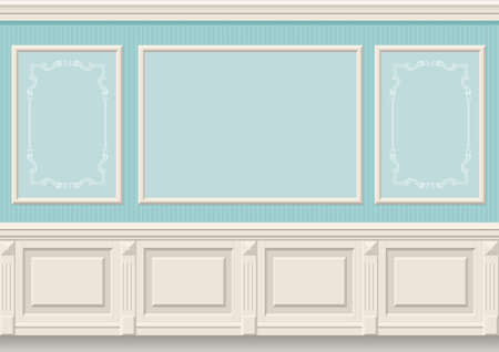 Classic wall panels  in the interior of the room, graphics