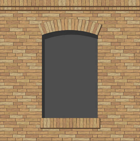 window shades: Brick arch opening of the brick in a classic style Illustration