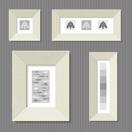 broad: Paintings in the broad frames of light wood