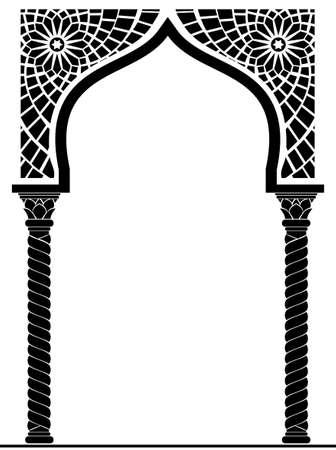アラビア語や他の東欧スタイル、エントランス、戸口で建築のアーチ