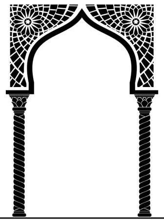 Architectural arch in Arabic or other Eastern style, entrance, doorway Stock fotó - 53794258