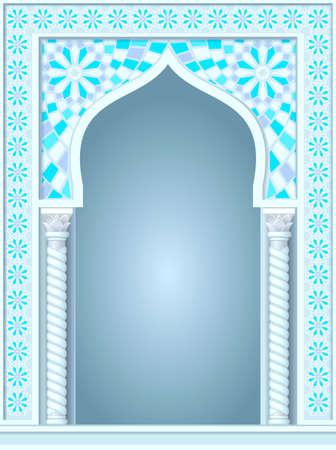 templo: arco arquitect�nico en �rabe u otro estilo oriental, entrada, puerta de entrada