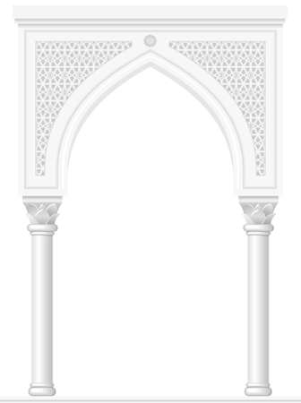 entrance: Architectural arch in Arabic or other Eastern style, entrance, doorway