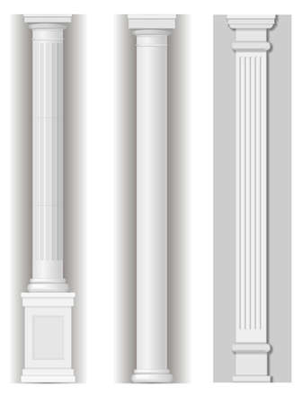 classicism: Classic antique white columns in graphics