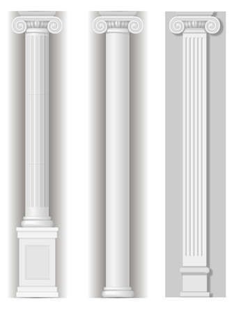 roman pillar: Classic antique white columns in graphics