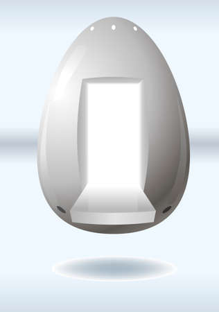 spaceport: Eggs from outer space in the form of a manned capsule
