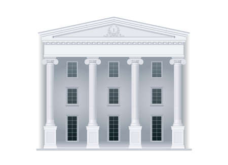 ministry: Courthouse or institution, department, ministry in a classical style with columns