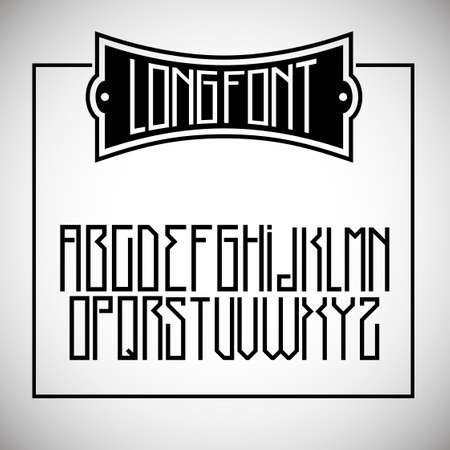 narrow: Narrow long font similar to the simplified Gothic or Cyrillic alphabet in graphics
