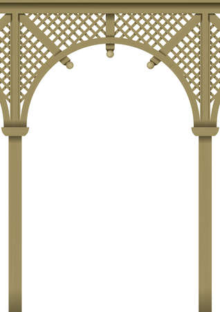 verandas: Openwork arch Wooden pergolas or verandas of the bar of the classic Victorian style vector graphics