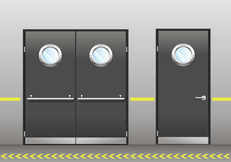 Un ensemble de porte du laboratoire technique Banque d'images - 63861235