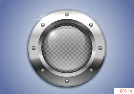 round window with clear glass for laboratory or aircraft, submarines.