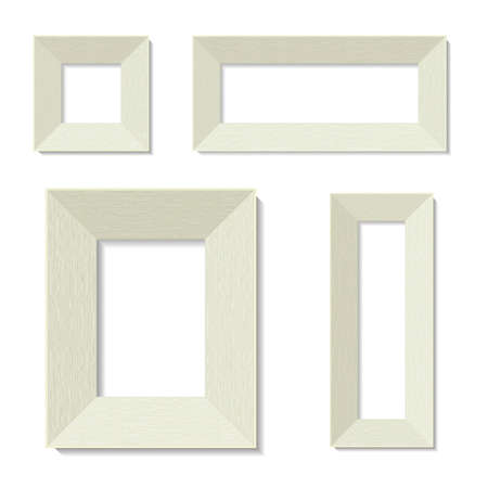 preparations: Preparations for pictures. Frames on a blank wall. Vector graphics. Illustration