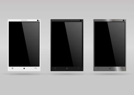 modern: Set of modern smartphones Illustration
