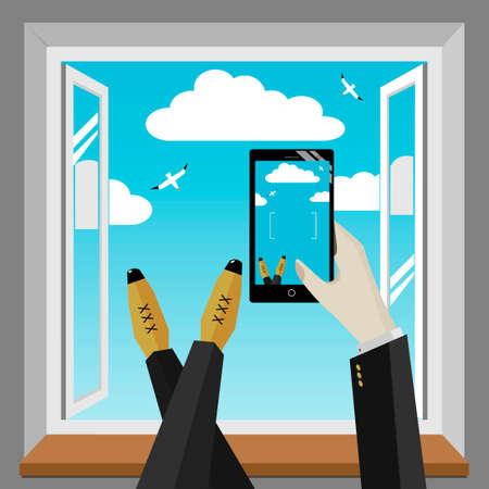handbreadth: Smartphone in hand