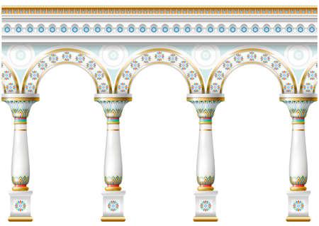 massive: Facade with ornament Illustration