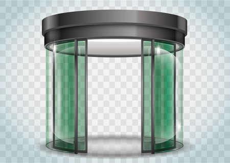 vestibule: Round glass doors