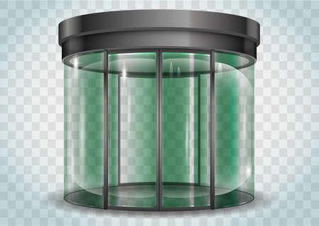 clarity: Round glass doors