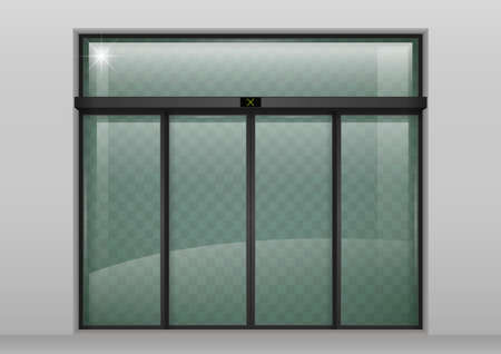 Sliding glass automatic doors