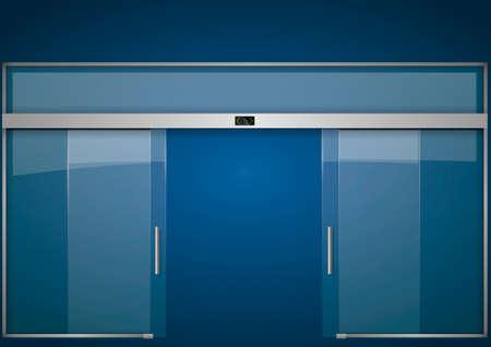 Portes de verre automatiques Banque d'images - 80322248